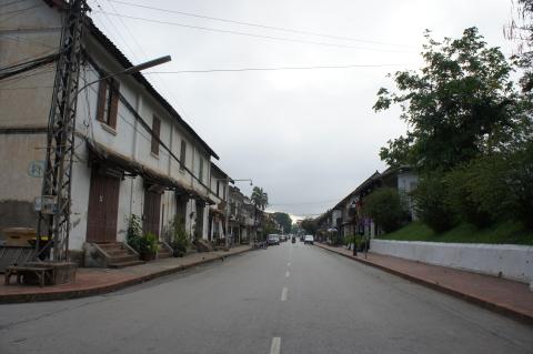 ラオス・ルアンパバーンの街並み画像